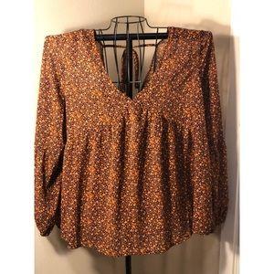 Mossimo Boho floral print blouse